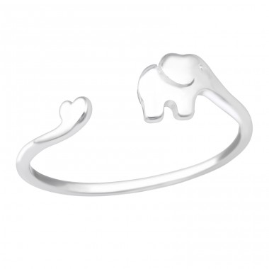 Elephant adjustable ring - 925 Sterling Silver Basic Rings A4S41078