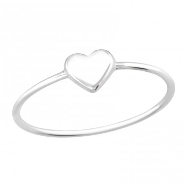 Heart - 925 Sterling Silver Basic Rings A4S41079
