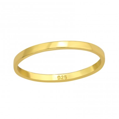 Golden Plain simple ring - 925 Sterling Silver Basic Rings A4S42454