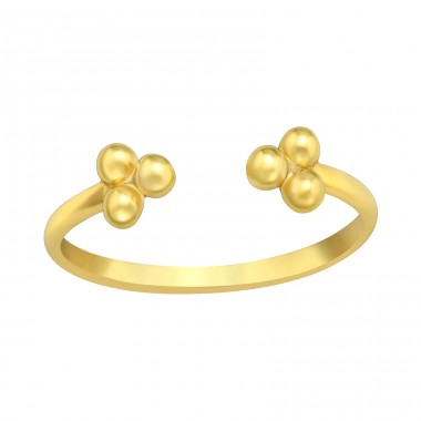 Golden Bee Open ring - 925 Sterling Silver Basic Rings A4S42596
