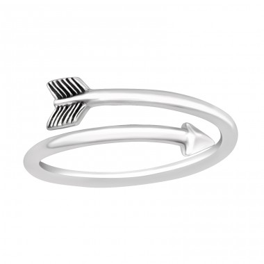 Arrow open ring - 925 Sterling Silver Basic Rings A4S42770