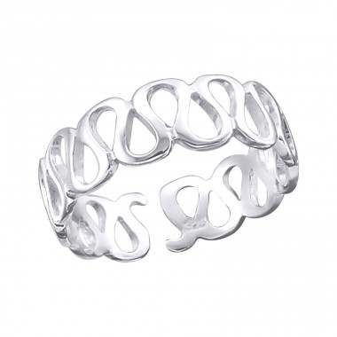 Wave - 925 Sterling Silver Toe Rings A4S20690