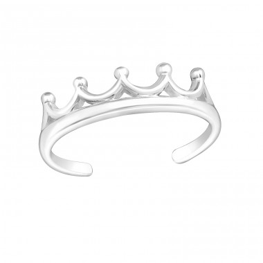 Crown - 925 Sterling Silver Toe Rings A4S20979