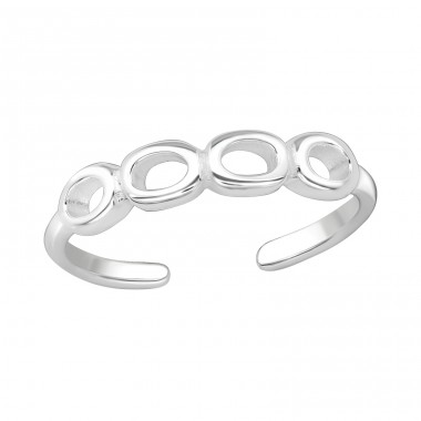 Circles - 925 Sterling Silver Toe Rings A4S20984