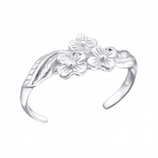 Flowers - 925 Sterling Silver Toe Rings A4S21053