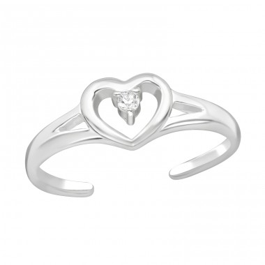Heart - 925 Sterling Silver Toe Rings A4S21061