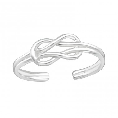 Knot - 925 Sterling Silver Toe Rings A4S21062