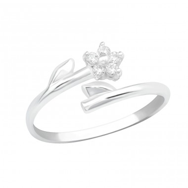 Flower - 925 Sterling Silver Toe Rings A4S21267