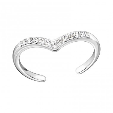 Heart - 925 Sterling Silver Toe Rings A4S22285