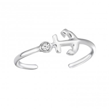 Anchor - 925 Sterling Silver Toe Rings A4S24647