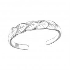 Leaves - 925 Sterling Silver Toe Rings A4S26186