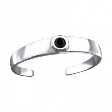 Round - 925 Sterling Silver Toe Rings A4S26204