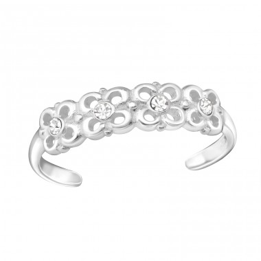 Flowers - 925 Sterling Silver Toe Rings A4S26207
