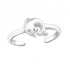 Dolphin - 925 Sterling Silver Toe Rings A4S26211