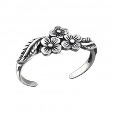 Flowers - 925 Sterling Silver Toe Rings A4S27169