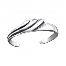 Wave - 925 Sterling Silver Toe Rings A4S27170