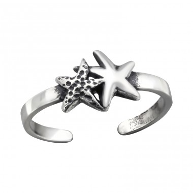Starfish - 925 Sterling Silver Toe Rings A4S27180