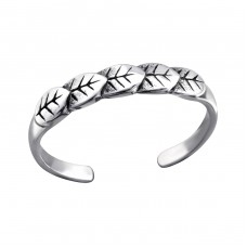 Leaf - 925 Sterling Silver Toe Rings A4S27184