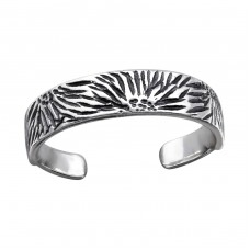 Patterned - 925 Sterling Silver Toe Rings A4S27188