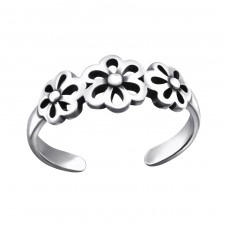 Flowers - 925 Sterling Silver Toe Rings A4S27624