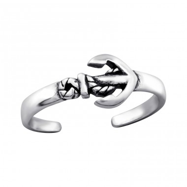 Anchor - 925 Sterling Silver Toe Rings A4S27625