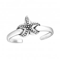 Starfish - 925 Sterling Silver Toe Rings A4S27626