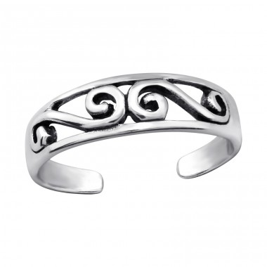 Patterned - 925 Sterling Silver Toe Rings A4S27627