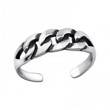 Patterned - 925 Sterling Silver Toe Rings A4S27629