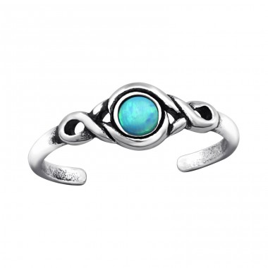 Patterned Opal - 925 Sterling Silver Toe Rings A4S27716