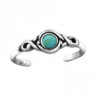 Round - 925 Sterling Silver Toe Rings A4S27898