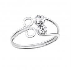 Flower - 925 Sterling Silver Toe Rings A4S28620