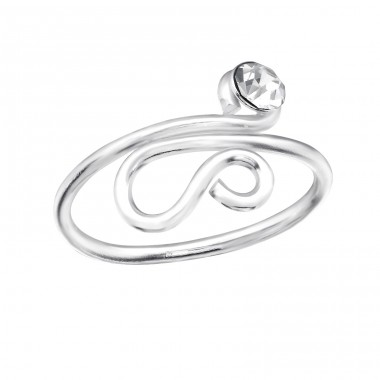 Snake - 925 Sterling Silver Toe Rings A4S28621