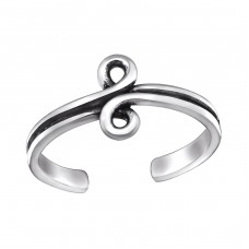Spiral - 925 Sterling Silver Toe Rings A4S29393