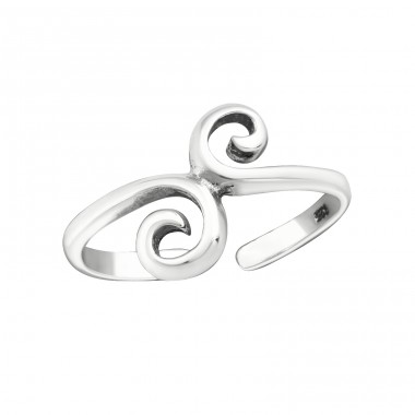 Spiral - 925 Sterling Silver Toe Rings A4S29395