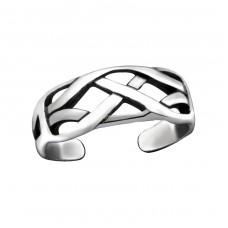 Intertwining - 925 Sterling Silver Toe Rings A4S29397