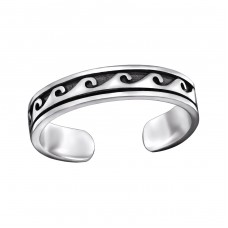 Wave - 925 Sterling Silver Toe Rings A4S29399