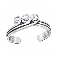 Tiara - 925 Sterling Silver Toe Rings A4S29400