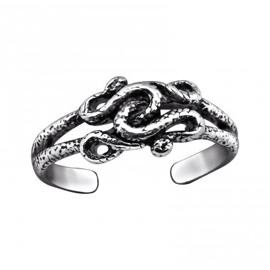 Snake - 925 Sterling Silver Toe Rings A4S29402
