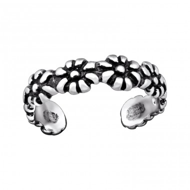 Flower - 925 Sterling Silver Toe Rings A4S29403