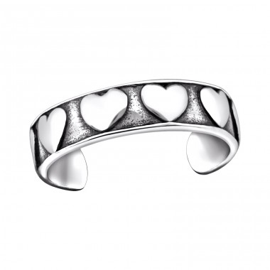Heart - 925 Sterling Silver Toe Rings A4S29406