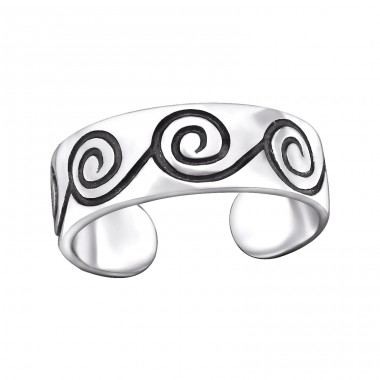 Spiral - 925 Sterling Silver Toe Rings A4S29409
