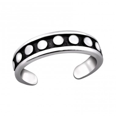 Dot - 925 Sterling Silver Toe Rings A4S29410