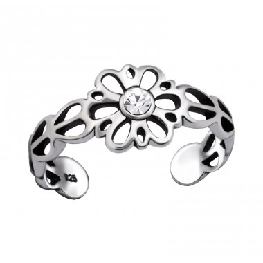 Flower - 925 Sterling Silver Toe Rings A4S29413