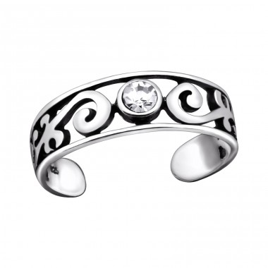 Patterned - 925 Sterling Silver Toe Rings A4S29418