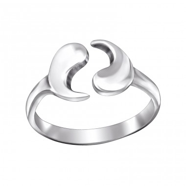 Yin Yang - 925 Sterling Silver Toe Rings A4S29427