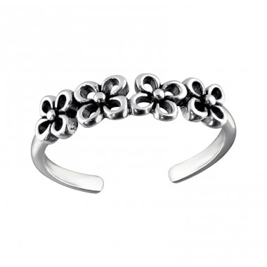 Flowers - 925 Sterling Silver Toe Rings A4S31259