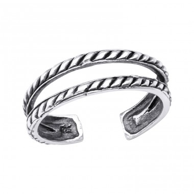 Oxidized - 925 Sterling Silver Toe Rings A4S31757