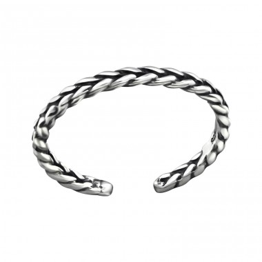Braided - 925 Sterling Silver Toe Rings A4S32305