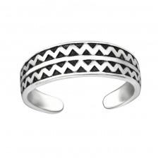 Zig Zag - 925 Sterling Silver Toe Rings A4S32306