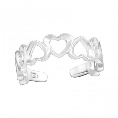 Heart - 925 Sterling Silver Toe Rings A4S34956